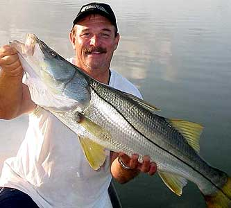 Capt Eric Anderson Holding Big Fort Myers Snook