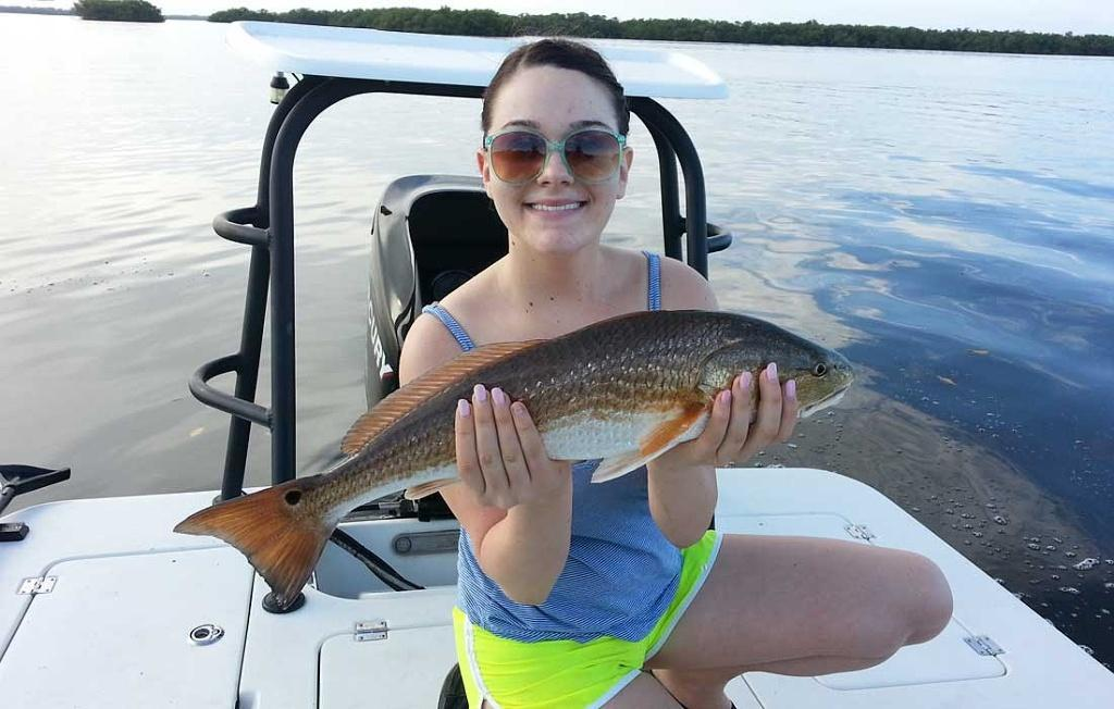 Early Fall Redfish From Estero Bay Fishing With What A Hawg Charters