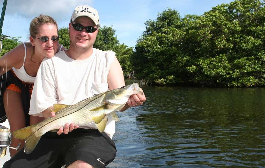 Nice Snook Caught In Fort Myers On Their Honeymoon